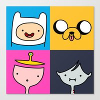 finn and jake Canvas Prints featuring Finn & Jake by fungopolly