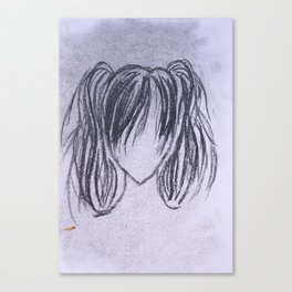 Girl with High Ponytails Canvas Print