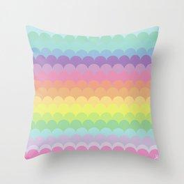 Soft Scallops Throw Pillow