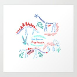 Plant and dinosaur  encyclopedia Art Print