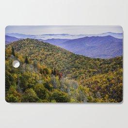Mountain Fall Leaf Color Cutting Board