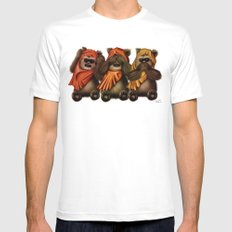 STAR WARS The Three Wise Ewoks Mens Fitted Tee MEDIUM White