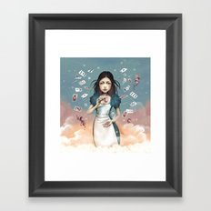 It's time for tea Alice Framed Art Print