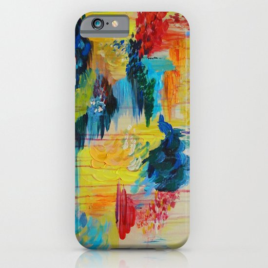 VANCOUVER RAIN - Stunning Rainbow Colorful Bold bright Rain Clouds Stormy Day Wow Abstract Painting iPhone & iPod Case