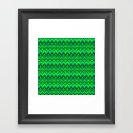 Green Plaid Weave  Framed Art Print