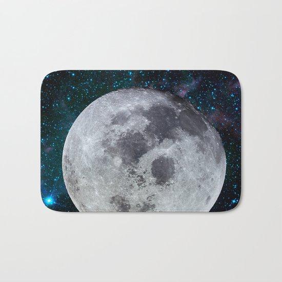 Moon and the stars Bath Mat