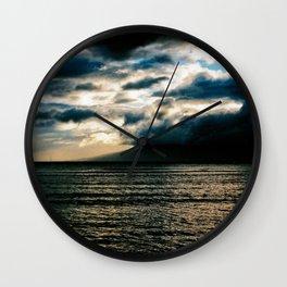 Sunset at Lahaina Harbor Wall Clock