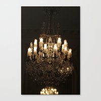chandelier Canvas Prints featuring Chandelier by Scotty Photography