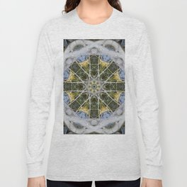 Fountain Mandala (#083c) Long Sleeve T-shirt