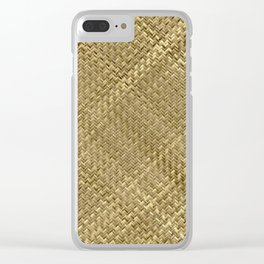 Basket Weaving Clear iPhone Case