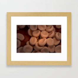 Conceptual image of red blood cells. Framed Art Print