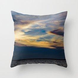 Beauty Above The Shoreline Throw Pillow