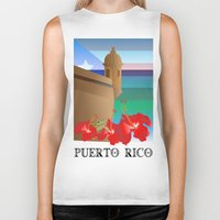 puerto rico Biker Tanks featuring Puerto Rico by PADMA DESIGNS PR