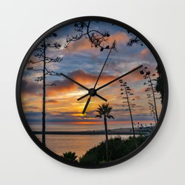Colorful Sunset at Lookout Point Wall Clock