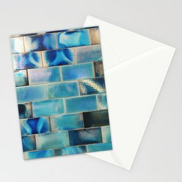 Iridescent tile wall in Lisbon, Portugal - Travel photography Stationery Cards