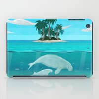 manatee iPad Cases featuring Manatee Island by Lidra