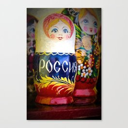Traditional Russian Matryoshka Nesting Puzzle Dolls Canvas Print