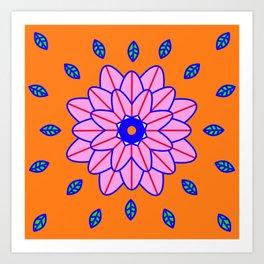 Flower Power Orange Vibes Art Print