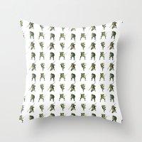 ninja turtle Throw Pillows featuring Ninja Turtle Pattern by Neal Julian