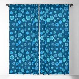 Blue Buttons Blackout Curtain