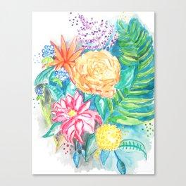 Floral watercolor Canvas Print