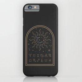 Sun, Moon and Zodiac iPhone Case