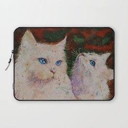 White Cats Laptop Sleeve