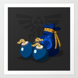 The Legend of Zelda Bomb Bag Art Print