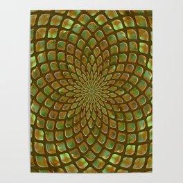 Golden Nugget Kaleidoscope Poster