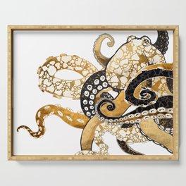Metallic Octopus Serving Tray