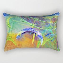 Chaotic worlds collide Rectangular Pillow