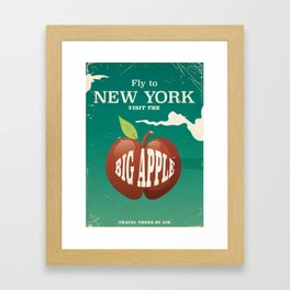 Big Apple New York City Vintage poster Framed Art Print
