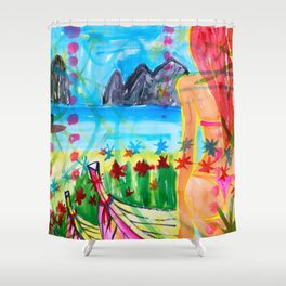 Koh pipi island in Thailand Shower Curtain