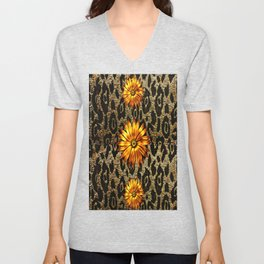 Animal Print Cheetah Triple Gold Unisex V-Neck
