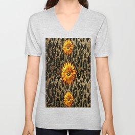 Animal Print Cheetah Triple Gold Unisex V-Neck