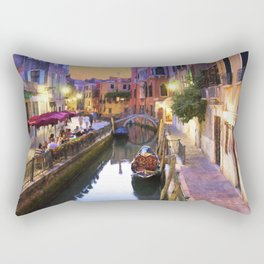 Sunset Alley In Venice Italy Rectangular Pillow
