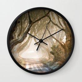 The Dark Hedges - GoT - Co. Antrim - Northen Ireland Wall Clock