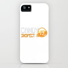 Candy Inspector With Pumpkin Pail Halloween design iPhone Case