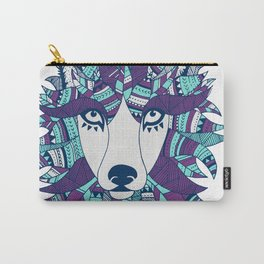Wolf ME - Purple and Light Blue Carry-All Pouch