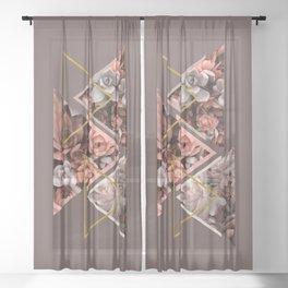 Elegant Succulents #society6 #decor #buyart Sheer Curtain