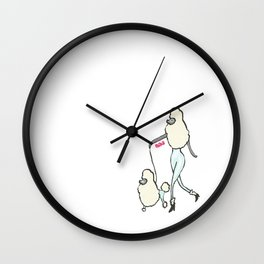 Proudly Poodle Wall Clock