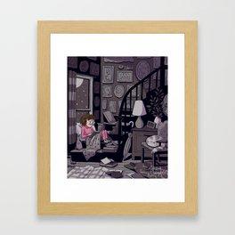 Midnight Reader Framed Art Print