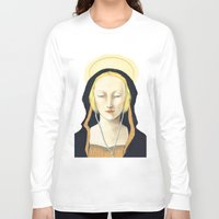 madonna Long Sleeve T-shirts featuring Musical Madonna by Eleanor Webber