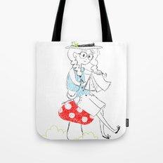 Girl drawing. Tote Bag