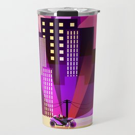 Cityscapes, Synthwave, and A Blinding Amount of Lights Travel Mug