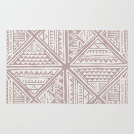 Simply Tribal Tile in Red Earth on Lunar Gray Rug