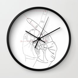 sign language Z Wall Clock