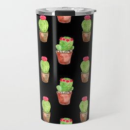 Watercolor Cactus Pattern Travel Mug