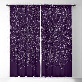 Mandala Silver-Violet Flower Blackout Curtain