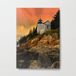 Bass Harbor Head Light Metal Print